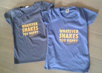 T-shirts met opdruk in kleur