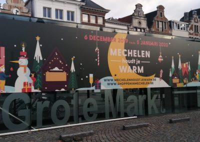 Belettering Grote Markt Mechelen